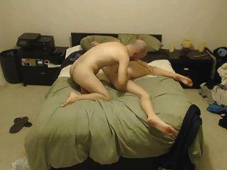 Bald Guy Bangs Tall Blonde Chick 2