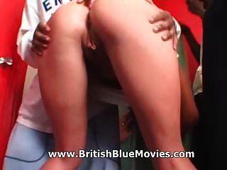 Amber Roxx Aka Laura Carlick - British Interracial Gang Bang