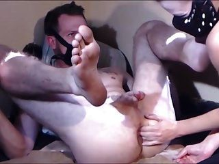 Amateur Double Anal Fisting & Monster Dildo