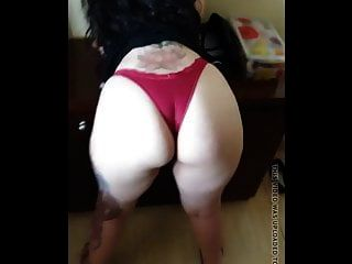 Nice Thick Latin Milf In Red Thong With Frontal
