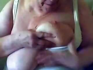 Naughty Sassy Sucks And Drools On Her Big Tits