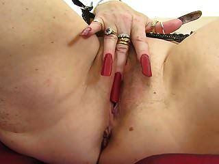 Dirty Granny With Very Long Nails And Hungry Cunt