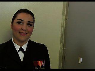 Navy Girl Morena Gets Double Facial At Gloryhole