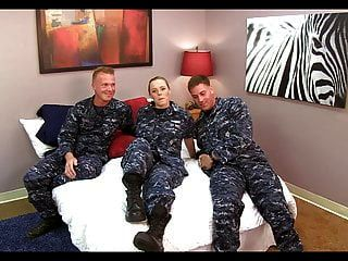 Cute Navy Girl Fucked By Two Mates