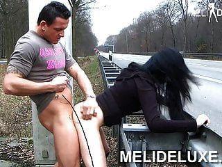 Melideluxe German Girl Fucks Unrestrained On The Highway