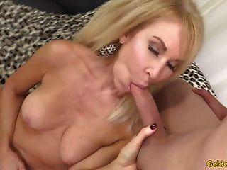 Blonde Grandmother Erica Lauren Sucks And Fucks A Dopey Guy