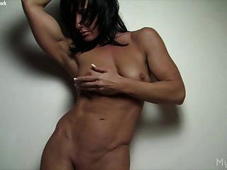 Naked Female Muscle Porn Star Plays With Her Big Clit