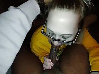 Pretty White Girl Sucking Black Cock