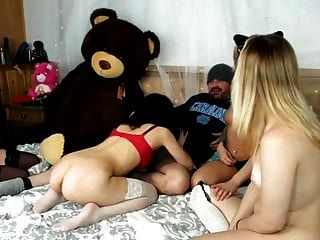 Somehow He Gets To Fuck Two Of The Four Girls