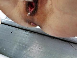 Big Lips Pussy Peeing Outdoor