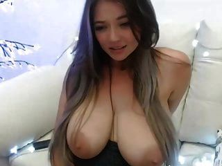 Girl With Huge Perfect Tits Cums With A Vibrator