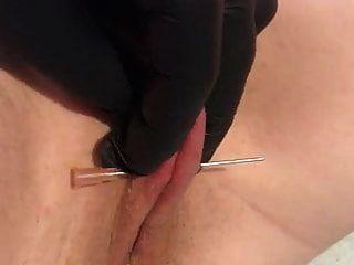 Needles Pussy Torture Nice Peehole