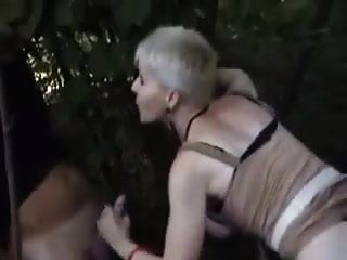 Nasty French Milf  Short Hair Blonde Dogging