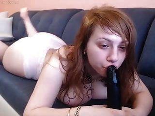 Big Titty Redhead Plays With Dildo On Webcam