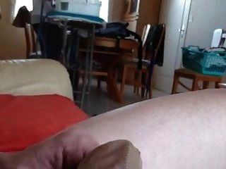 Mother In Law Nylon Dick Flash And Cum