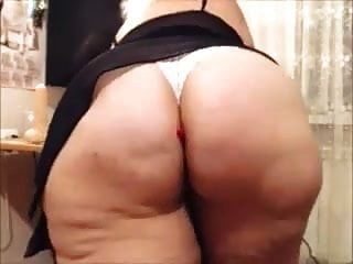 55 Y.o Fat Ass Mature Teasing & Masturbating - Part 2