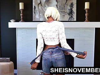 Ebony Babe Msnovember Spread Her Black Pussy & Big Ass Open