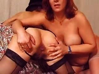 Two Matures - Pregnant And Assfucked