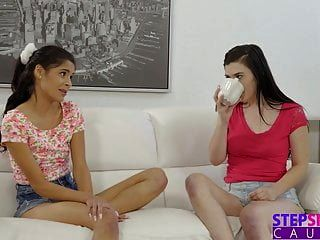Hippy Step Sister And Cute Friend Need Cum For Tea S6:e9