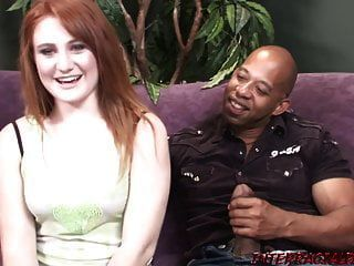Pale Redhead Takes Huge Black Cock That Doesn