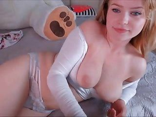 Brunette With Big Boobs Squirts Near A Cute Blonde On Cam