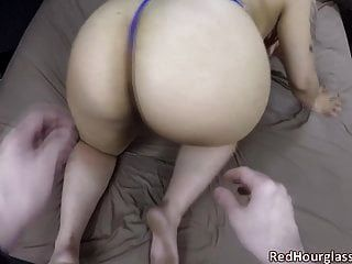 Mixed-race Goth Slut Takes A White Cock In Her Huge Ass
