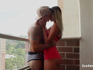 Fit Amateur Couple Enjoy Sex On The Balcony - Lustery